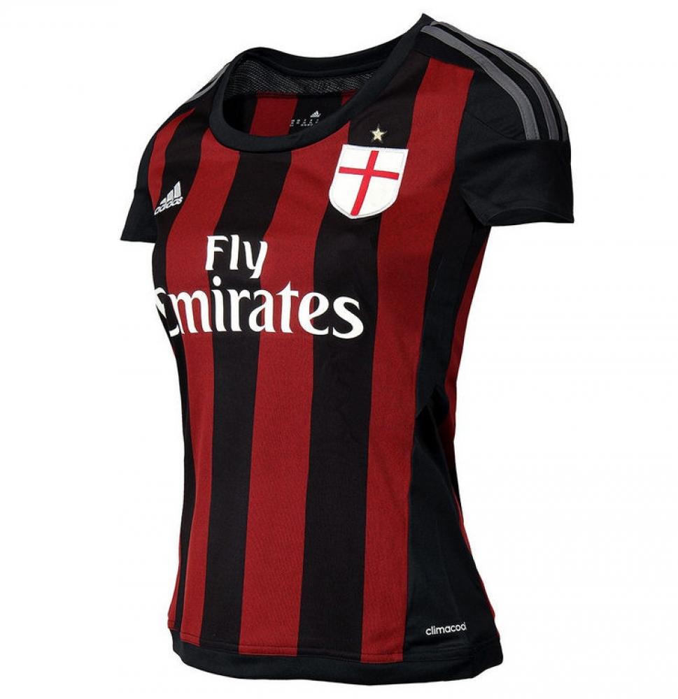 2015-2016 AC Milan Adidas Home Womens Shirt