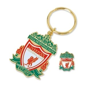 Liverpool FC Badge And Key Ring Set