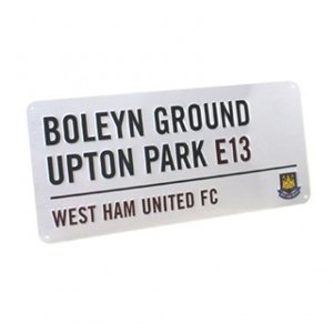 West Ham FC Street Sign