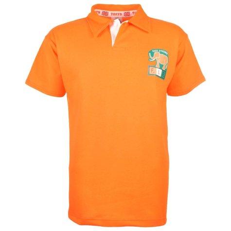 Ivory Coast 1980s Retro Football Shirt