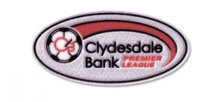 Official Clydesdale Bank SPL Sleeve Patch 11-12