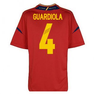 2012-13 Spain Euro 2012 Home Shirt (Guardiola 4)