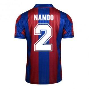 Score Draw Barcelona 1992 Home Shirt (Nando 2)