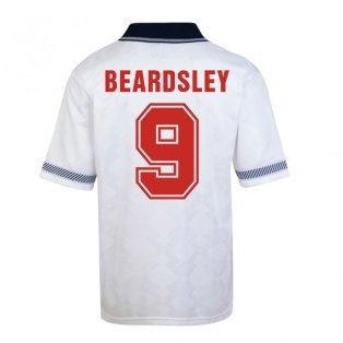 Score Draw England World Cup 1990 Home Shirt (Beardsley 9)