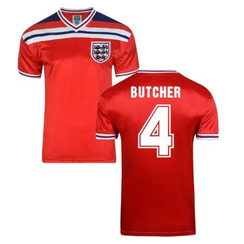 Score Draw England World Cup 1982 Away Shirt (Butcher 4)