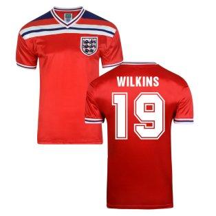 Score Draw England World Cup 1982 Away Shirt (Wilkins 19)