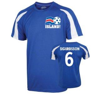 2016-17 Iceland Sports Training Jersey (Sigurdsson 6)