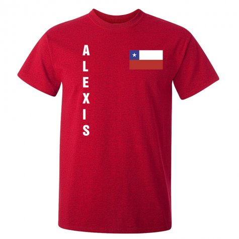 Alexis Sanchez Chile Flag T-Shirt (Red)