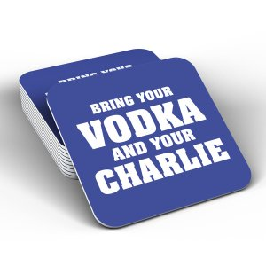 Leicester City Vodka and Charlie Coaster (Blue)