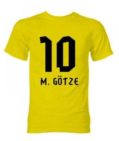 Mario Gotze Borussia Dortmund Hero T-Shirt (Yellow)