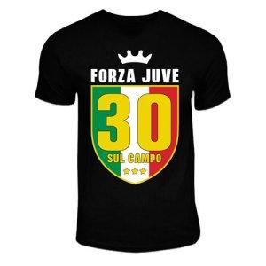 Juventus Scudetto 30 Sul Campo T-Shirt (Black)