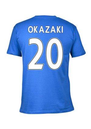 Leicester City 2016 Premier League Champions T-Shirt (Okazaki 20) Blue