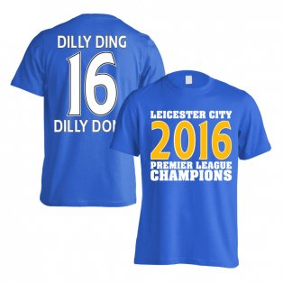 Leicester City 2016 Premier League Champions T-Shirt (Dilly Ding 16) Blue - Kids