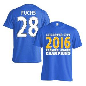 Leicester City 2016 Premier League Champions T-Shirt (Fuchs 28) Blue
