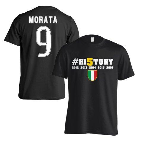 Juventus History Winners T-Shirt (Morata 9) - Black