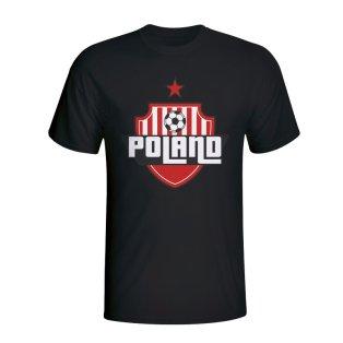 Poland Country Logo T-shirt (black) - Kids
