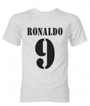 Ronaldo Real Madrid Retro Style T-Shirt (White)
