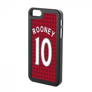 Man Utd Rooney 10 iPhone 5 Cover (Red)
