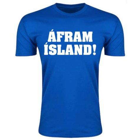 Iceland Afram Island T-Shirt (Blue) - Kids