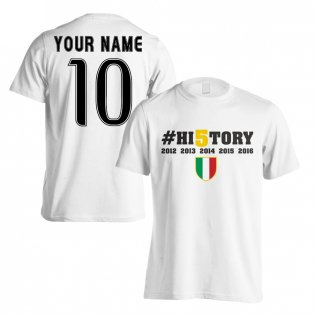 Juventus History Winners T-Shirt (Your Name) White - Kids