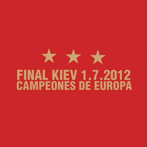 Spain Champions of Europe T-Shirt (Red)