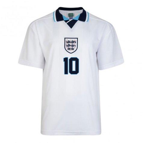 Score Draw England Euro 1996 Home Shirt (Sheringham 10)