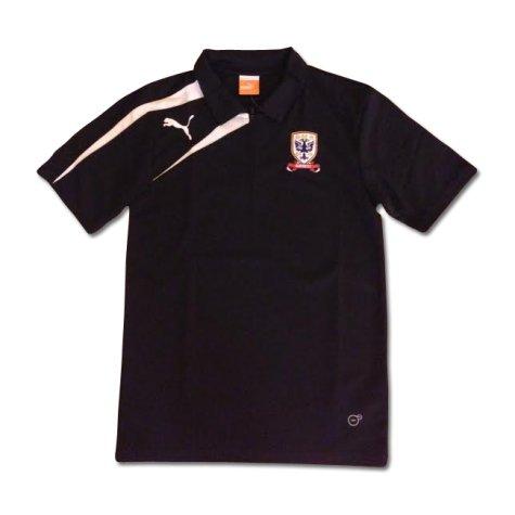 2013-14 Airdrie Puma Polo Shirt (Black)