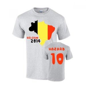 Belgium 2014 Country Flag T-shirt (hazard 10)