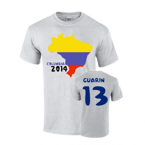 Colombia 2014 Country Flag T-shirt (guarin 13)