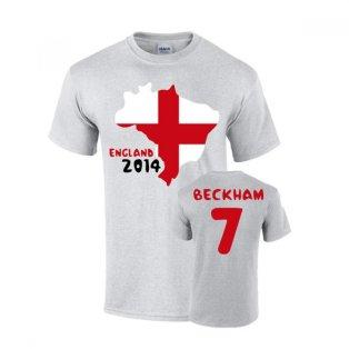 England 2014 Country Flag T-shirt (beckham 7)
