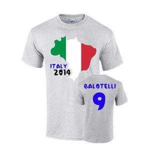 Italy 2014 Country Flag T-shirt (balotelli 9)