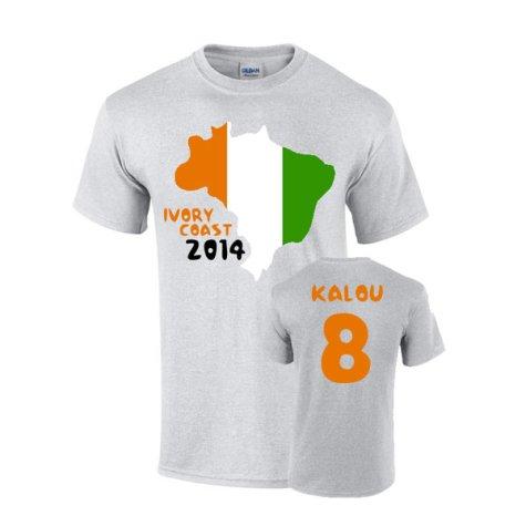Ivory Coast 2014 Country Flag T-shirt (kalou 8)