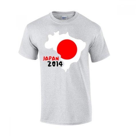 Japan 2014 Country Flag T-shirt (grey)