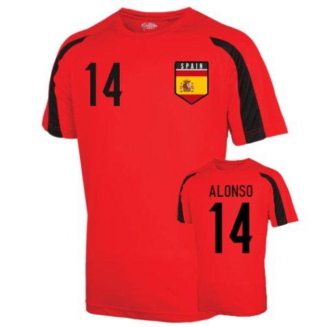 Spain Sports Training Jersey (alonso 14)
