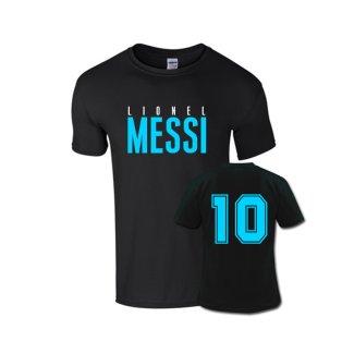 Lionel Messi Front Name T-shirt (black)