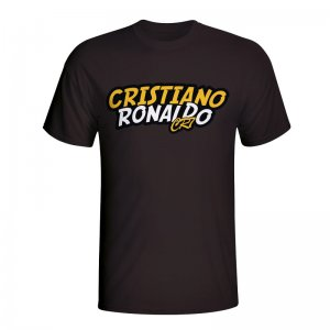 Cristiano Ronaldo Comic Book T-shirt (black) - Kids