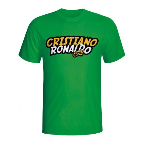Cristiano Ronaldo Comic Book T-shirt (green) - Kids