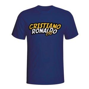 Cristiano Ronaldo Comic Book T-shirt (navy) - Kids