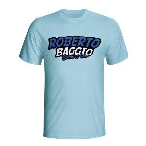 Roberto Baggio Comic Book T-shirt (sky Blue)