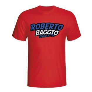 Roberto Baggio Comic Book T-shirt (red)