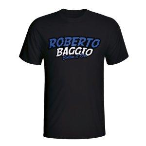 Roberto Baggio Comic Book T-shirt (black)