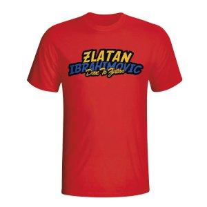 Zlatan Ibrahimovic Comic Book T-shirt (red) - Kids