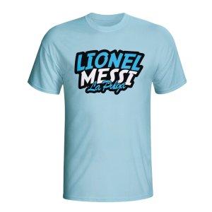 Lionel Messi Comic Book T-shirt (sky Blue)