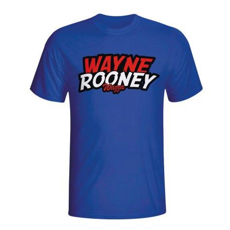 Wayne Rooney Comic Book T-shirt (blue) - Kids