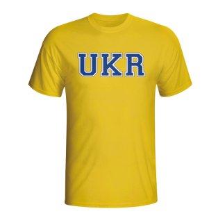 Ukraine Country Iso T-shirt (yellow)