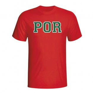 Portugal Country Iso T-shirt (red) - Kids