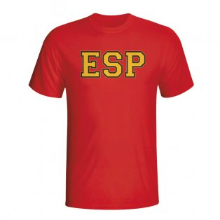 Spain Country Iso T-shirt (red)