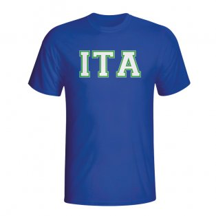 Italy Country Iso T-shirt (blue)