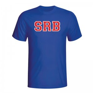 Serbia Country Iso T-shirt (blue)