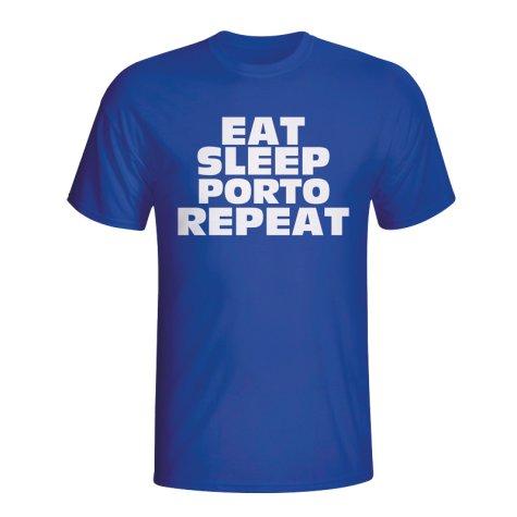 Eat Sleep Porto Repeat T-shirt (blue) - Kids